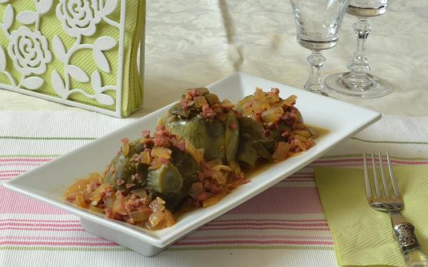Alcachofas con jamón